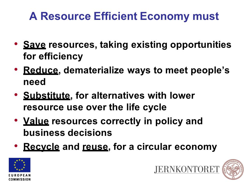 A Resource Efficient Economy must