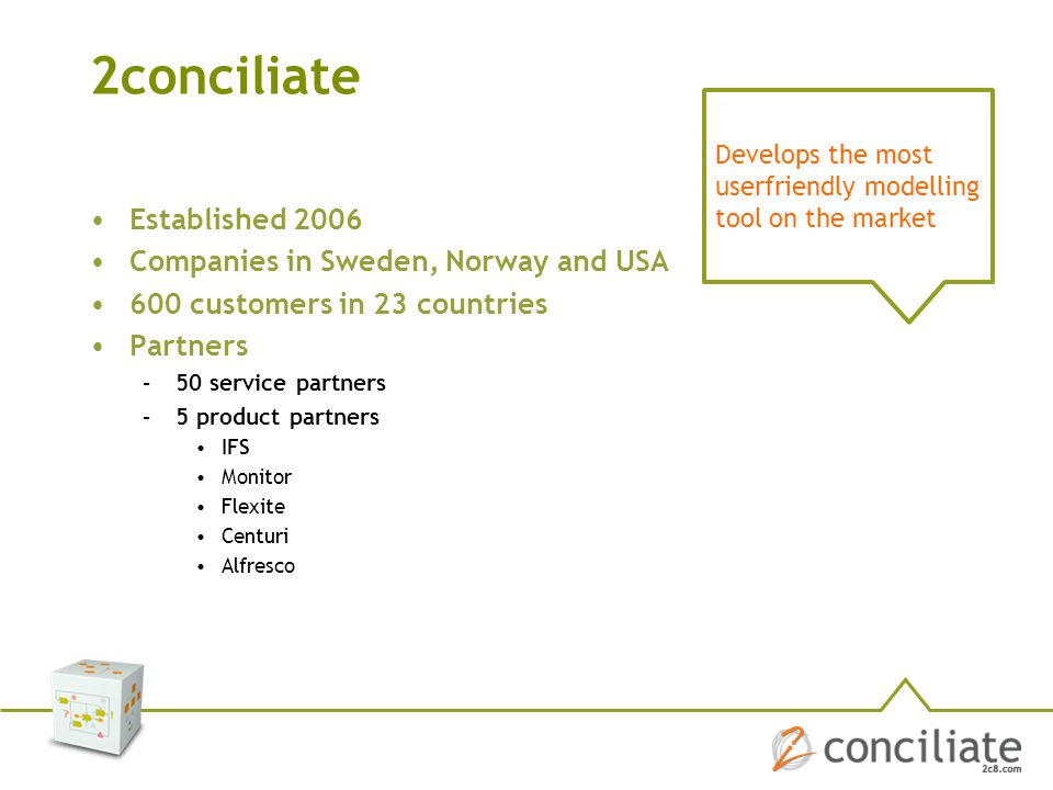 2conciliate Established 2006 Companies in Sweden, Norway and USA