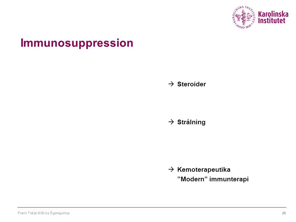Immunosuppression Steroider Strålning Kemoterapeutika