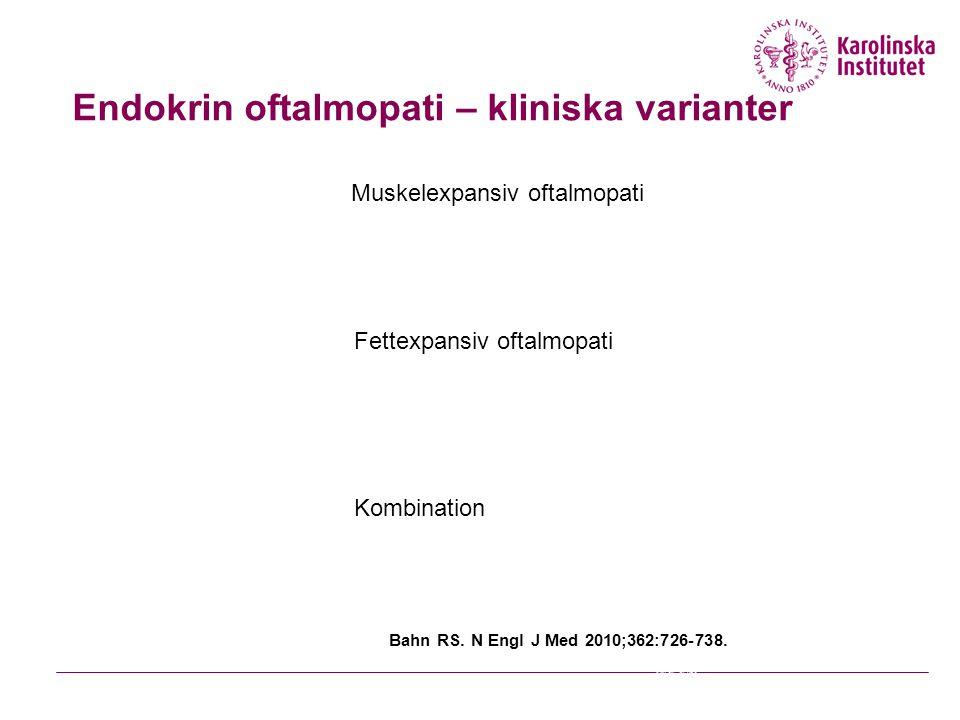 Endokrin oftalmopati – kliniska varianter