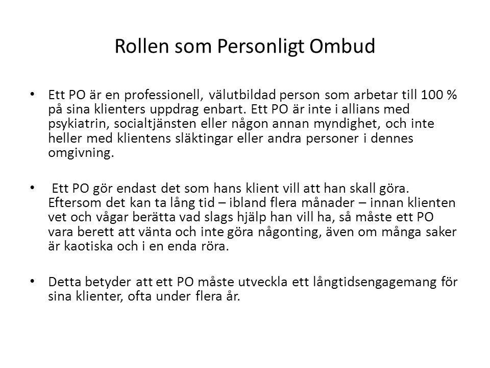 Rollen som Personligt Ombud