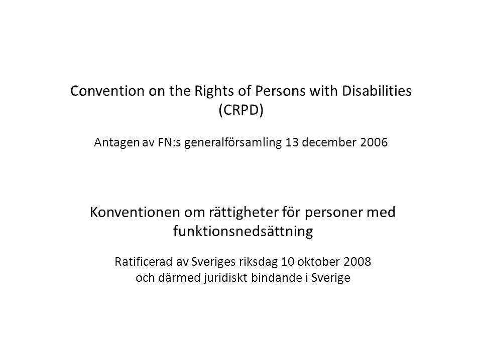 Konventionen om rättigheter för personer med funktionsnedsättning