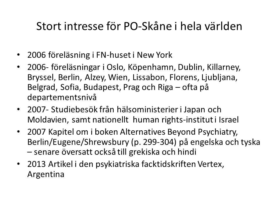 Stort intresse för PO-Skåne i hela världen