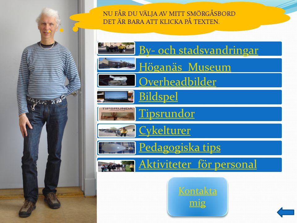By- och stadsvandringar Höganäs Museum Overheadbilder Bildspel