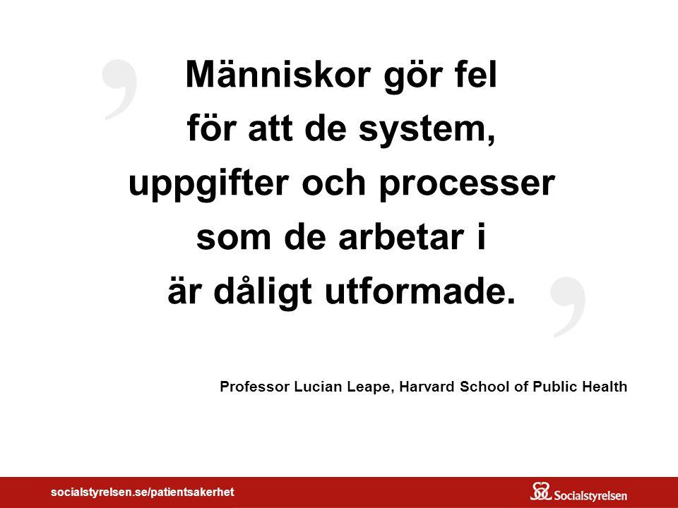 ' Människor gör fel för att de system, uppgifter och processer som de arbetar i är dåligt utformade.