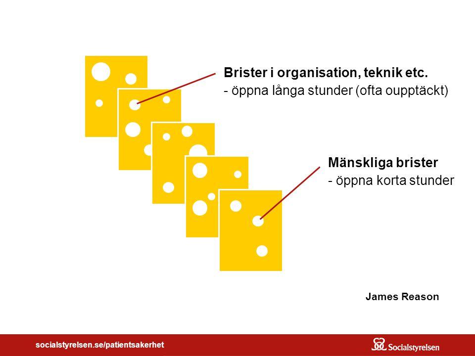 Brister i organisation, teknik etc.