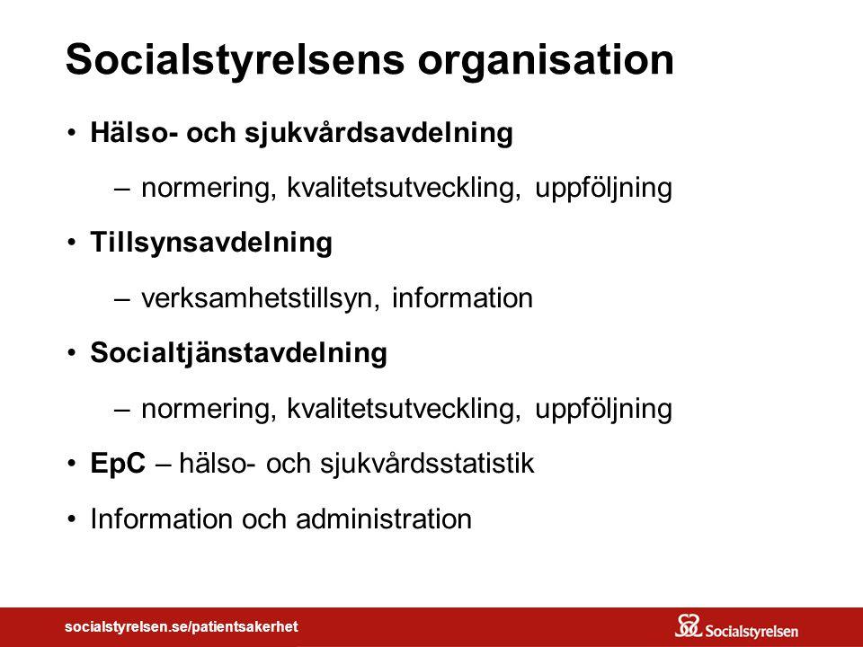 Socialstyrelsens organisation
