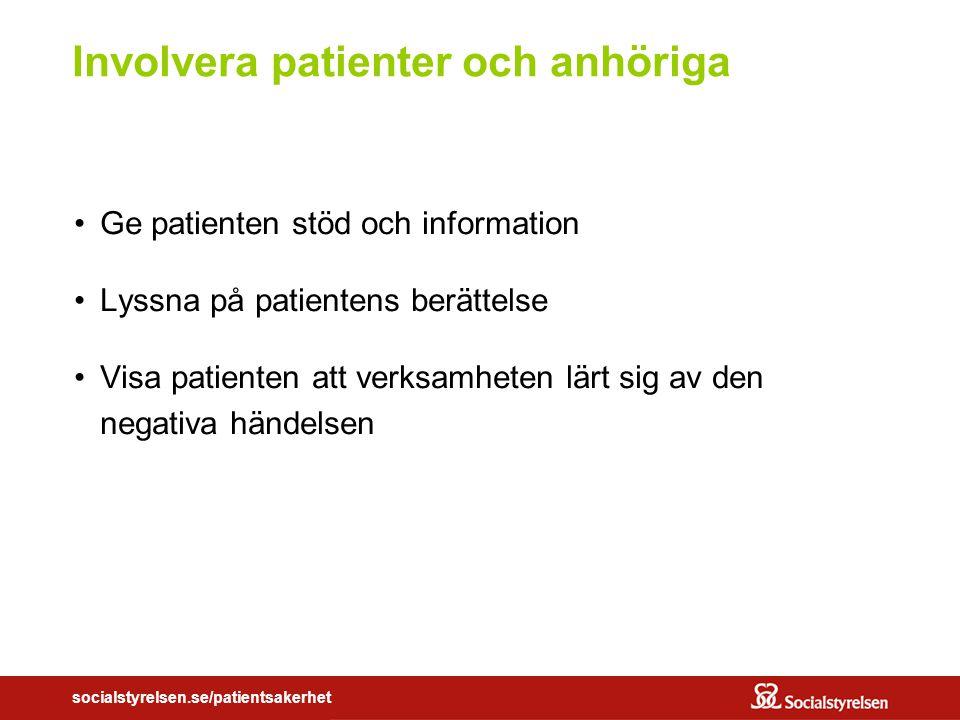 Involvera patienter och anhöriga