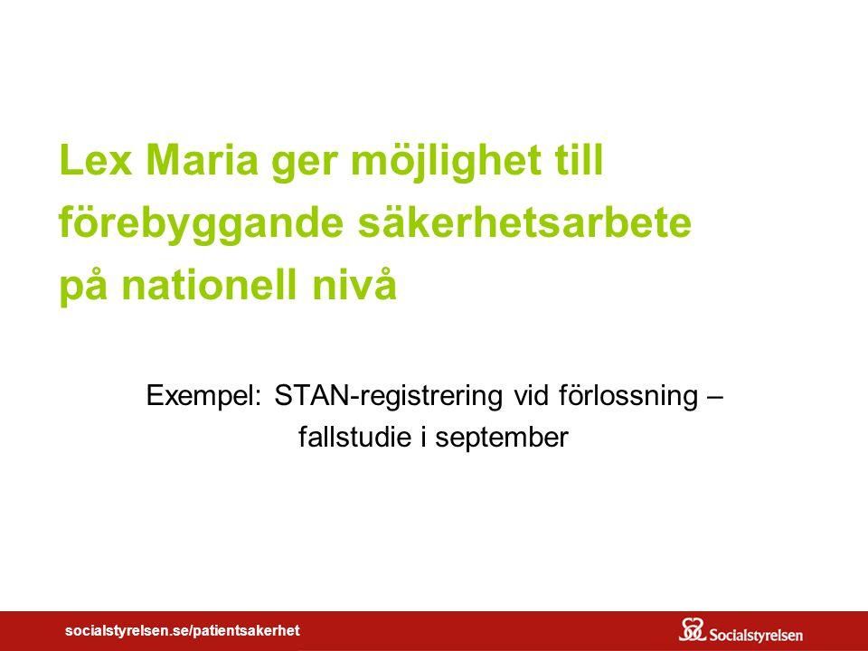 Exempel: STAN-registrering vid förlossning – fallstudie i september