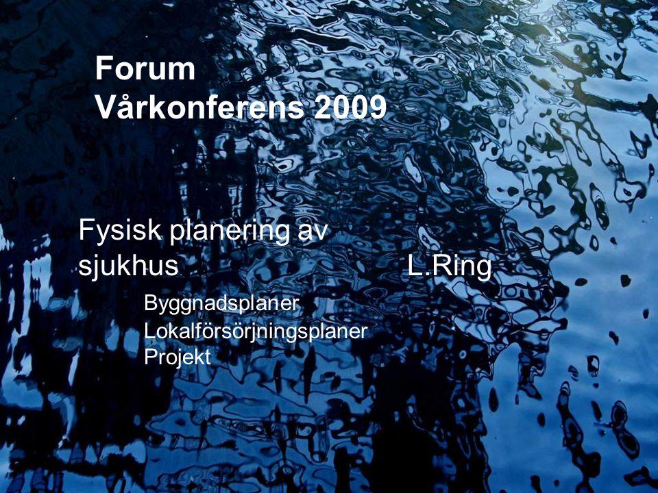 Forum Vårkonferens 2009 Fysisk planering av