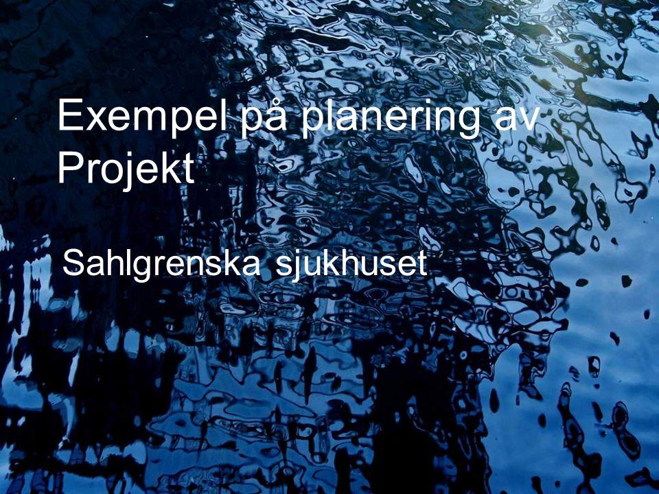Exempel på planering av Projekt