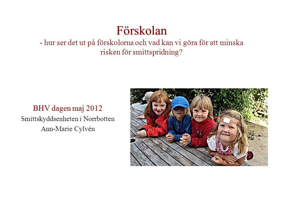 BHV dagen maj 2012 Smittskyddsenheten i Norrbotten Ann-Marie Cylvén