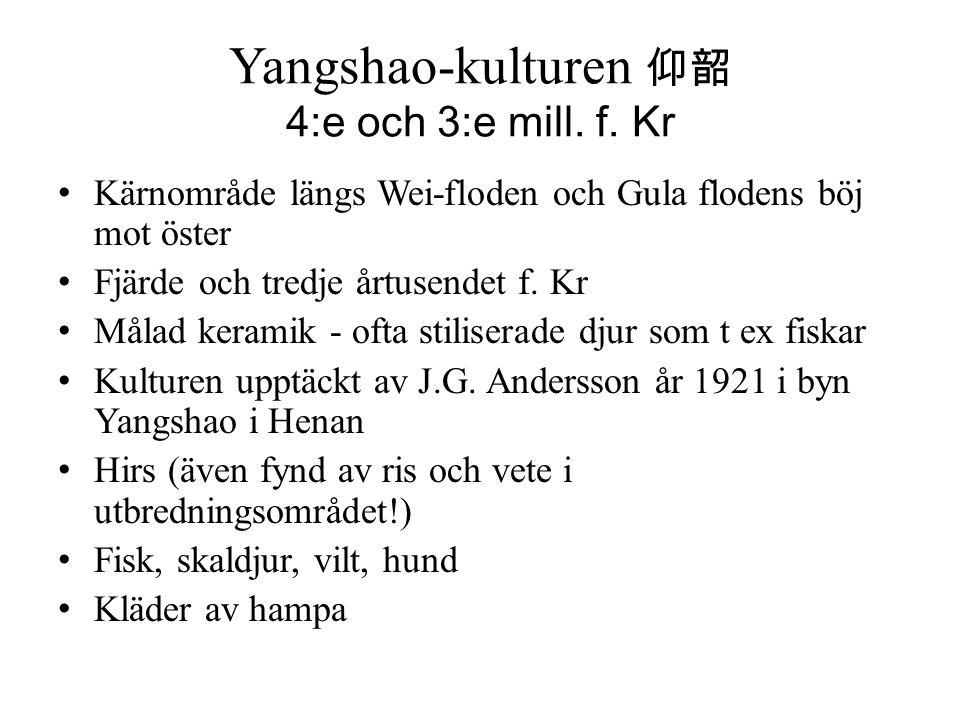 Yangshao-kulturen 仰韶 4:e och 3:e mill. f. Kr