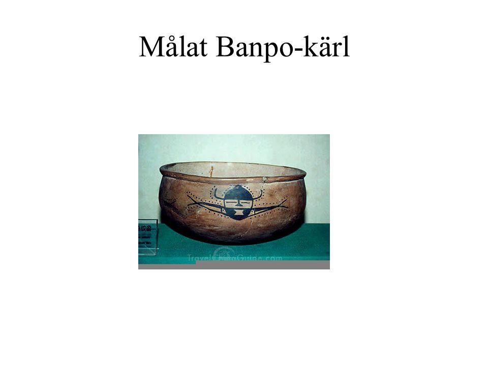 Målat Banpo-kärl Endast en mindre del av Banpo-keramiken var målad.