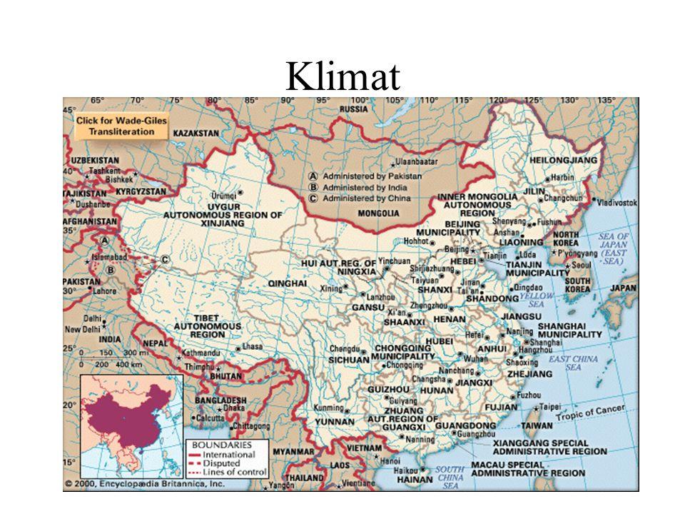 Klimat Gränsen mellan norr och söder: Qinling-bergen och Huai-floden.