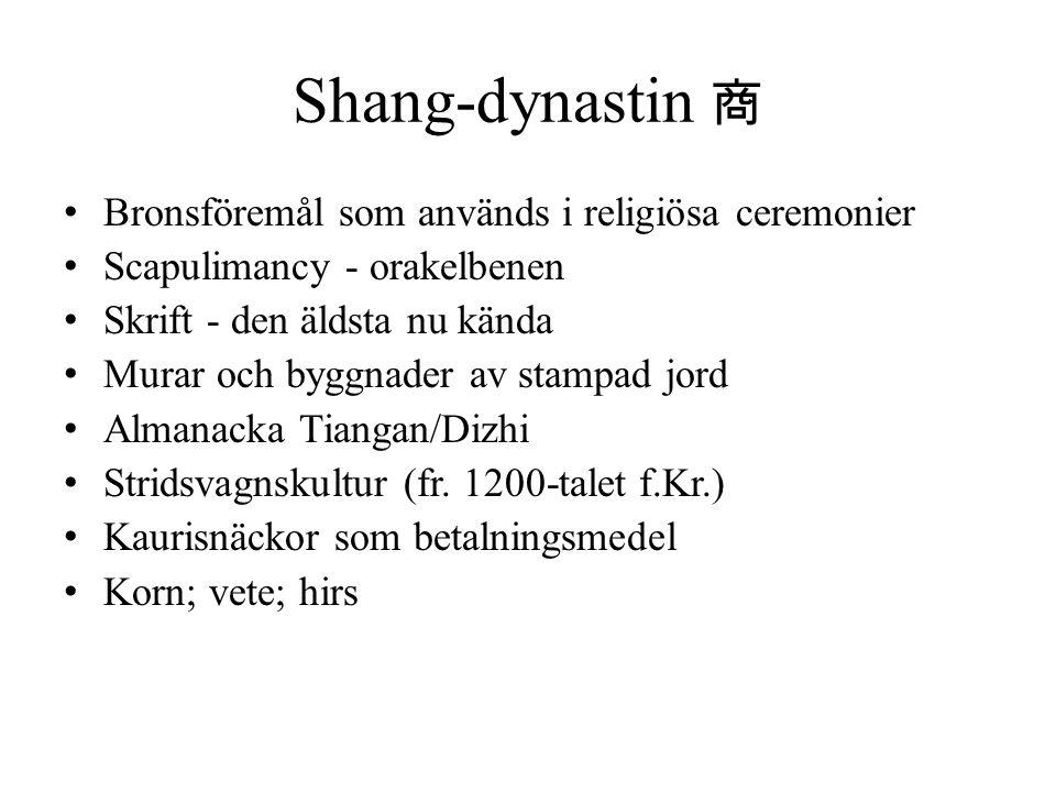 Shang-dynastin 商 Bronsföremål som används i religiösa ceremonier