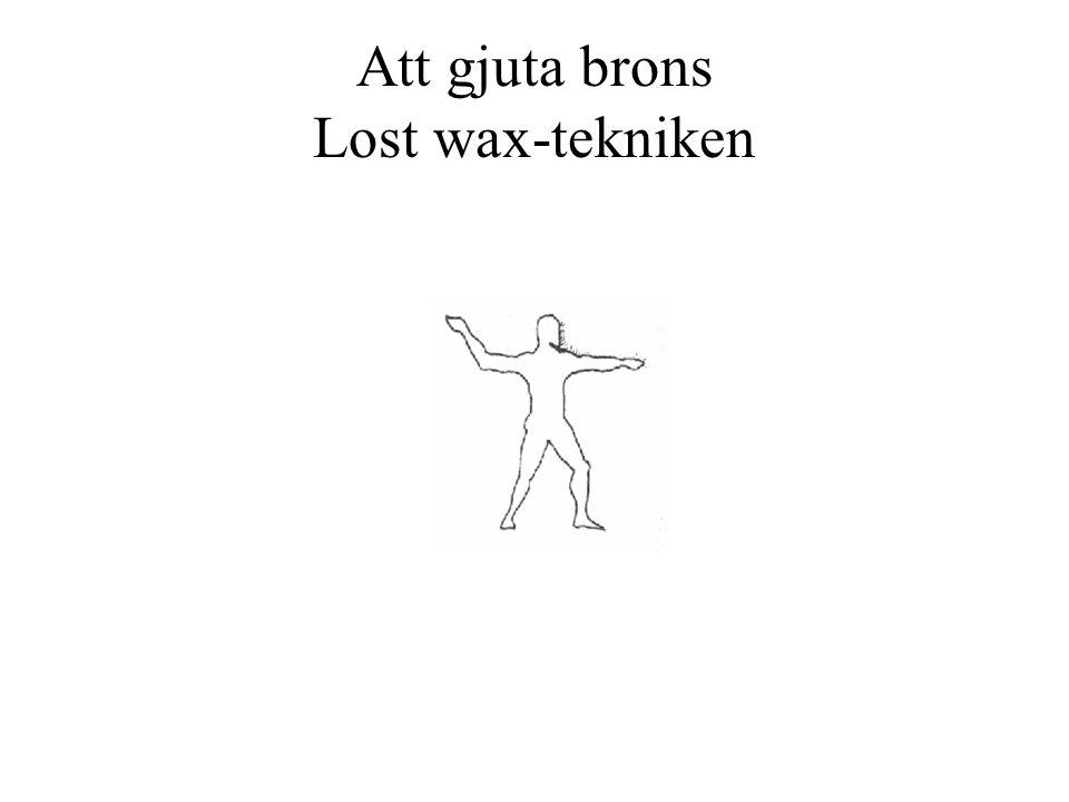 Att gjuta brons Lost wax-tekniken