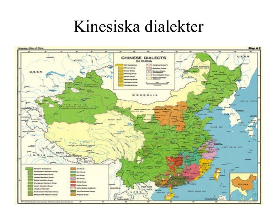 Kinesiska dialekter