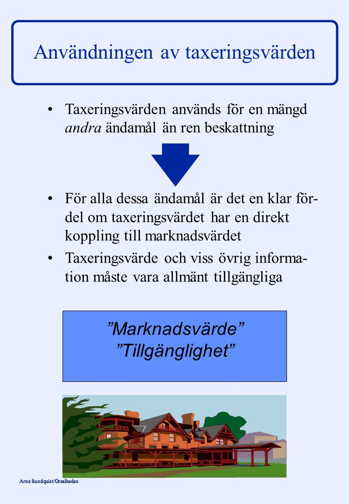 Användningen av taxeringsvärden