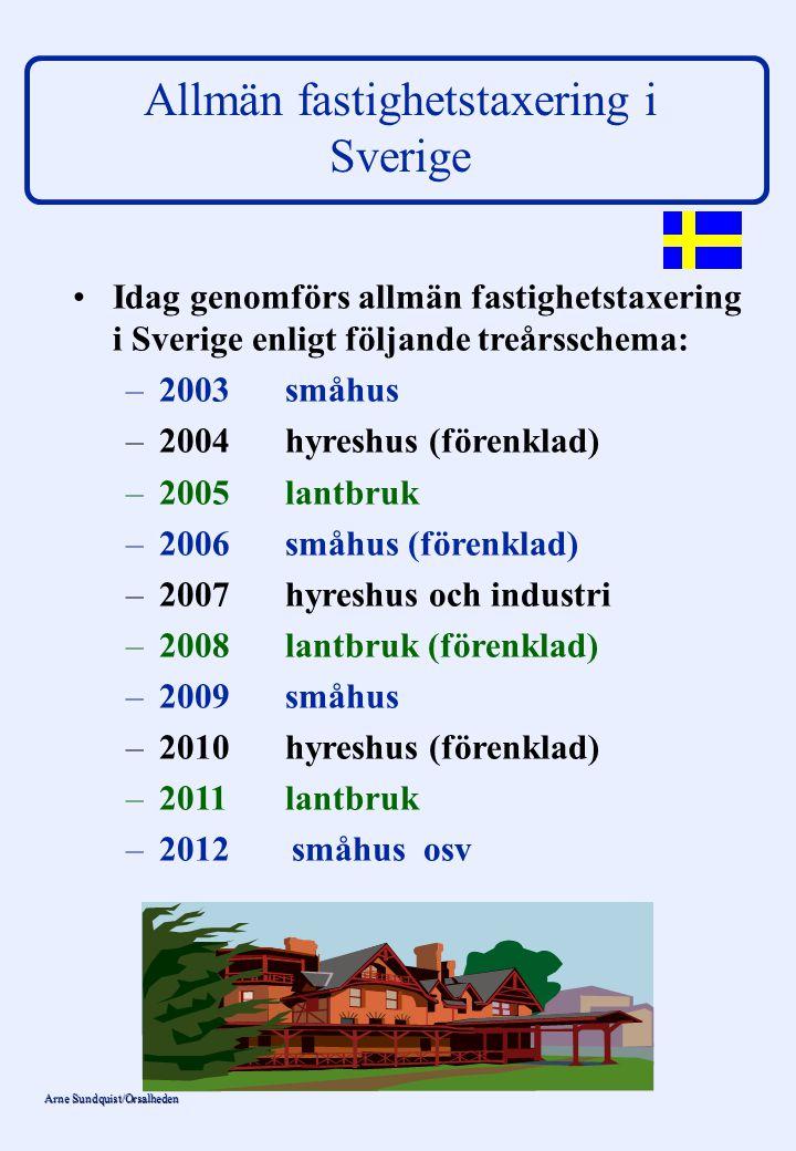 Allmän fastighetstaxering i Sverige