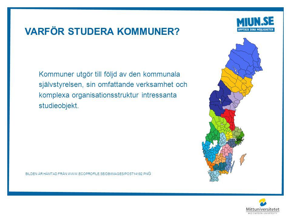 Varför studera kommuner