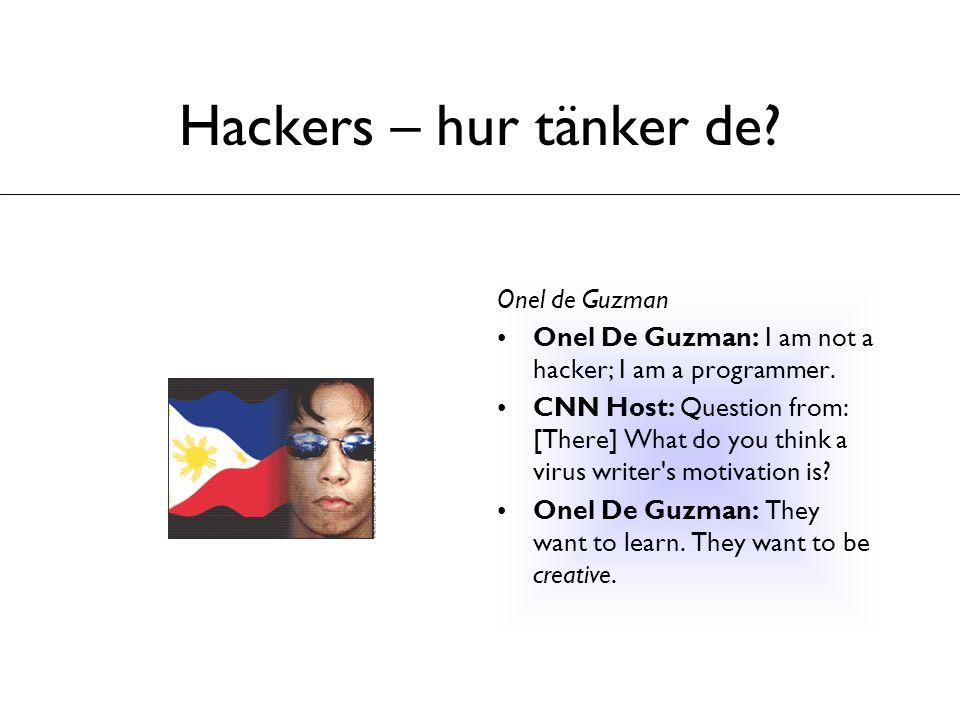 Hackers – hur tänker de Onel de Guzman