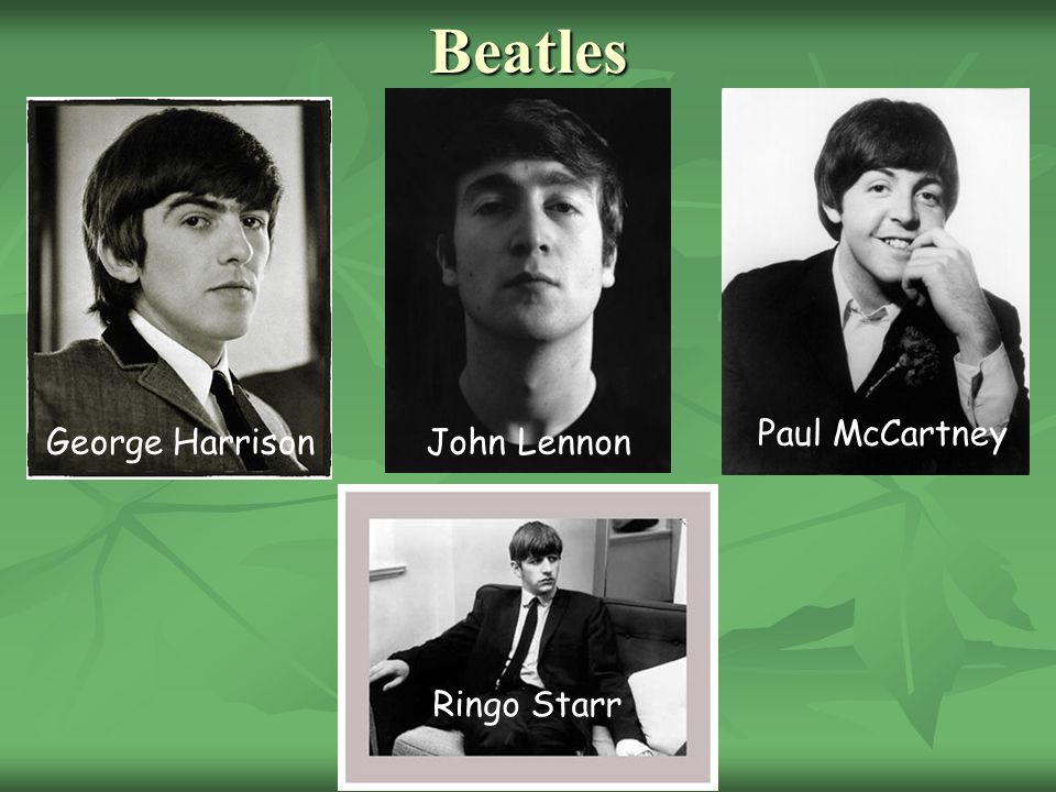 Beatles Paul McCartney George Harrison John Lennon Ringo Starr