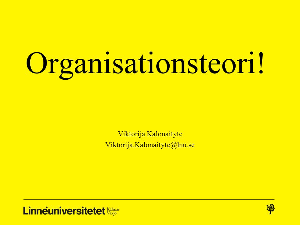 Viktorija Kalonaityte Viktorija.Kalonaityte@lnu.se