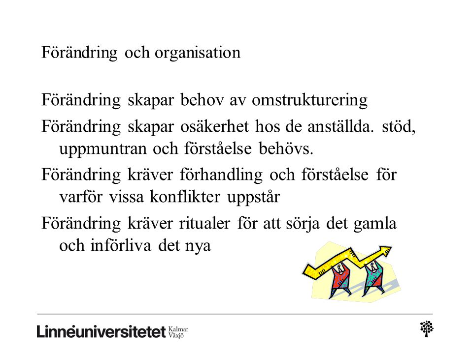 Förändring och organisation