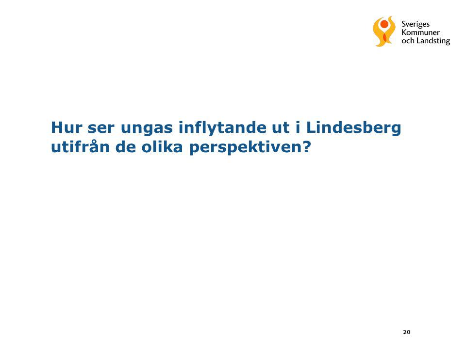 Hur ser ungas inflytande ut i Lindesberg utifrån de olika perspektiven