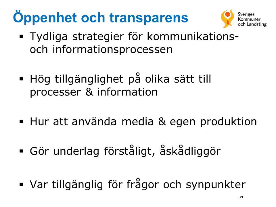Öppenhet och transparens