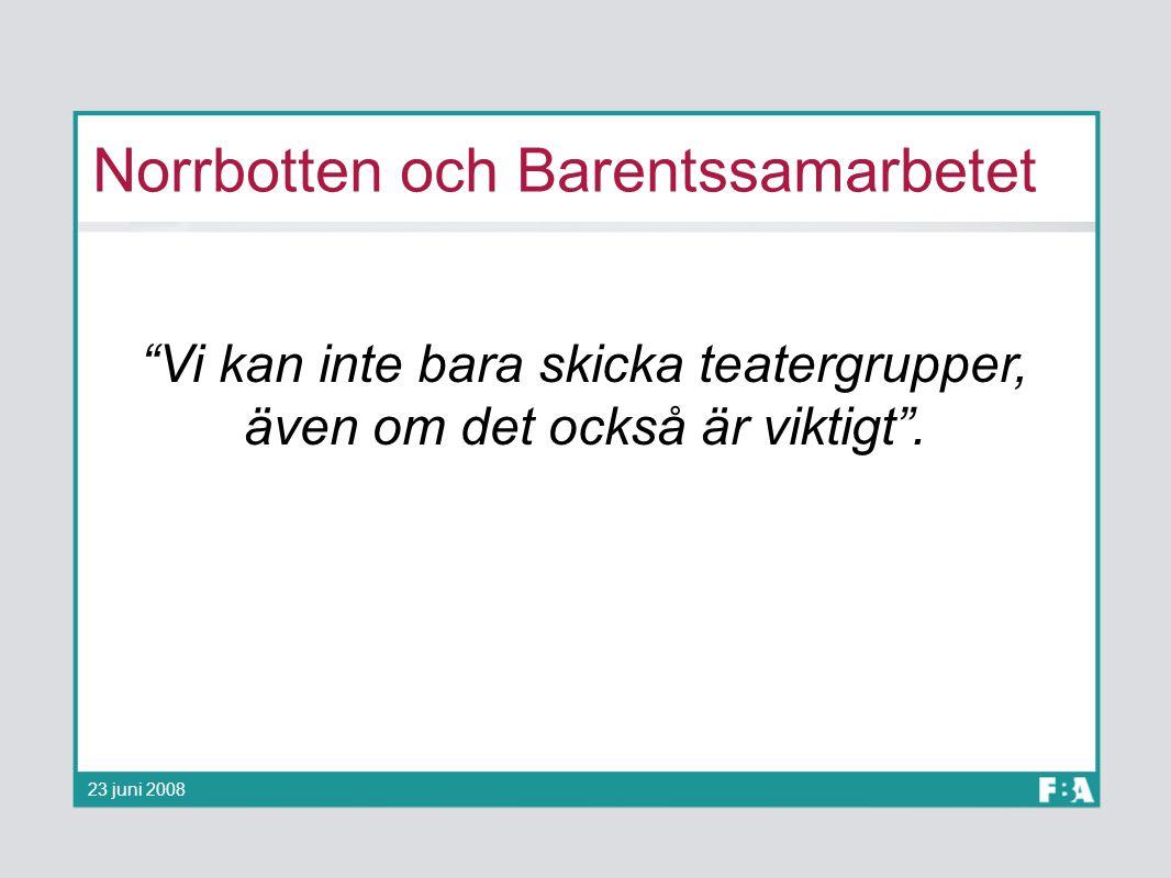 Norrbotten och Barentssamarbetet