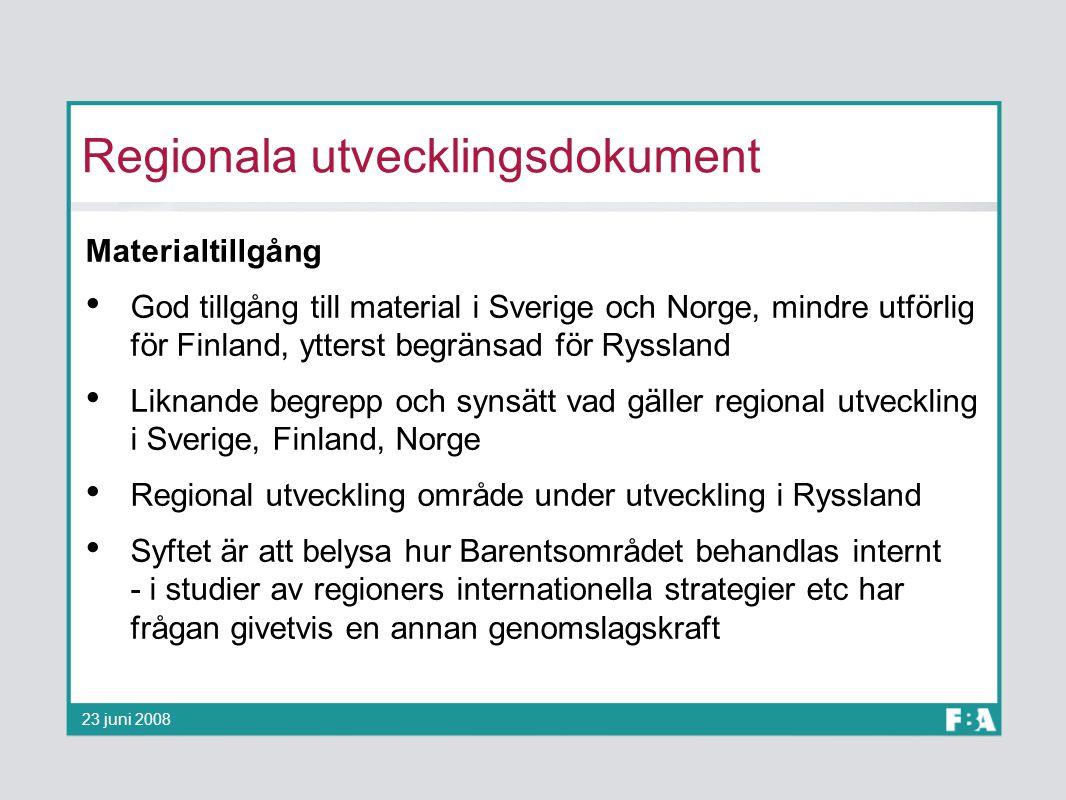 Regionala utvecklingsdokument