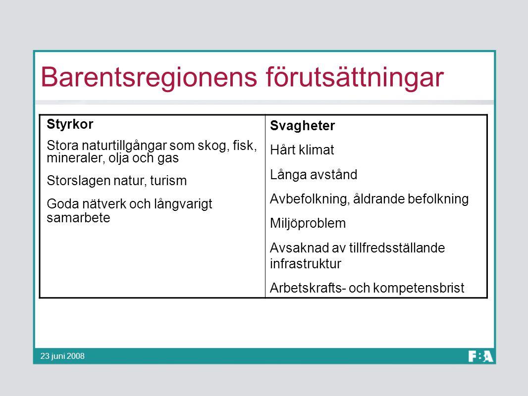 Barentsregionens förutsättningar