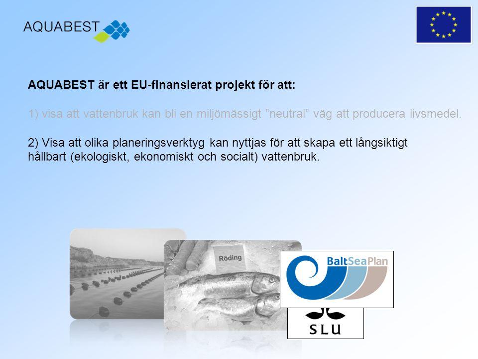 AQUABEST är ett EU-finansierat projekt för att: