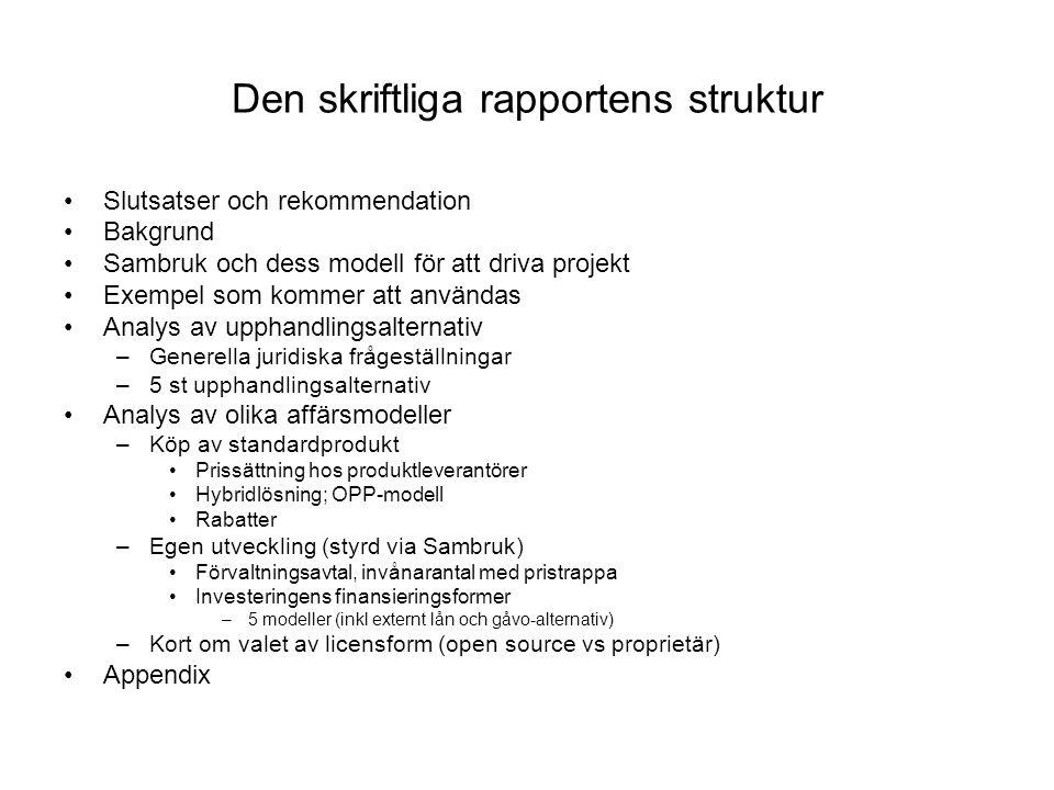 Den skriftliga rapportens struktur