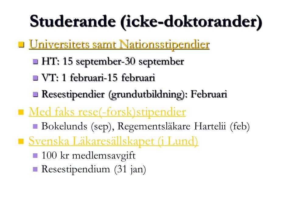 Studerande (icke-doktorander)