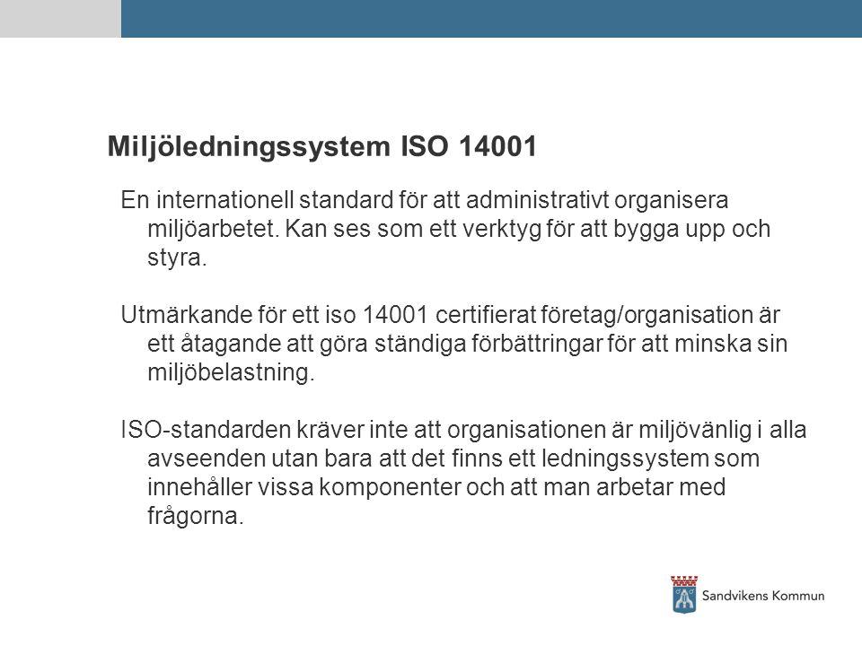 Miljöledningssystem ISO 14001