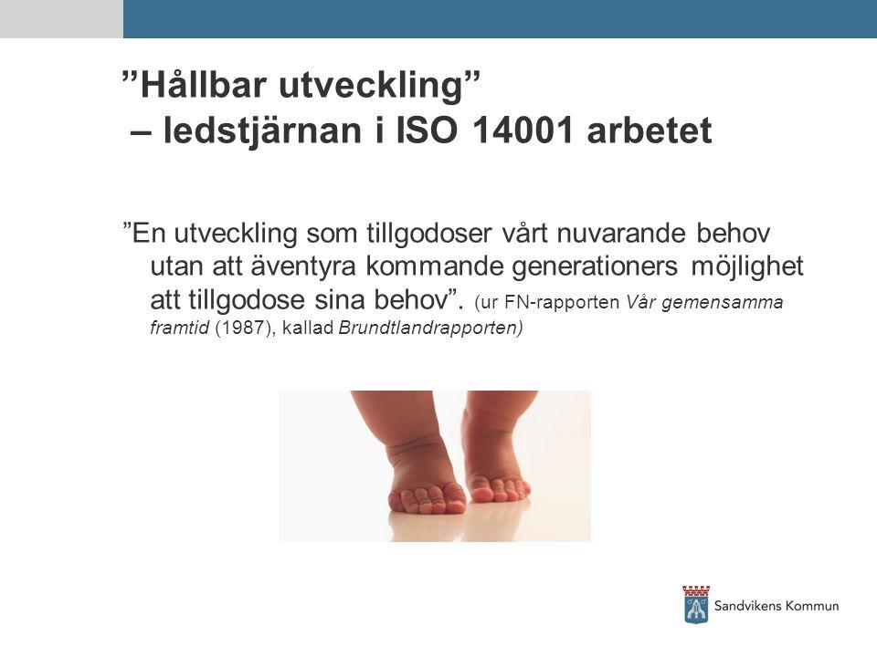 Hållbar utveckling – ledstjärnan i ISO 14001 arbetet