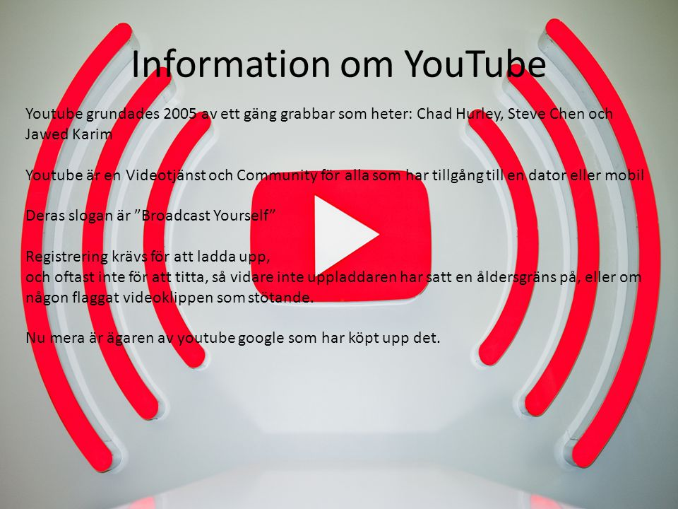 Information om YouTube