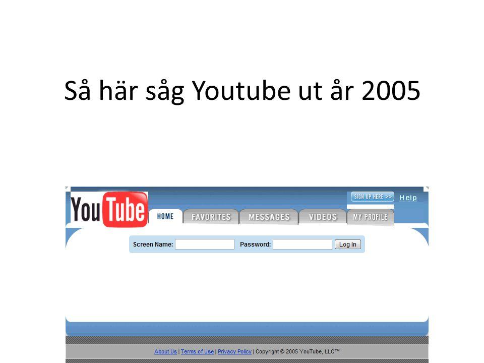 Så här såg Youtube ut år 2005