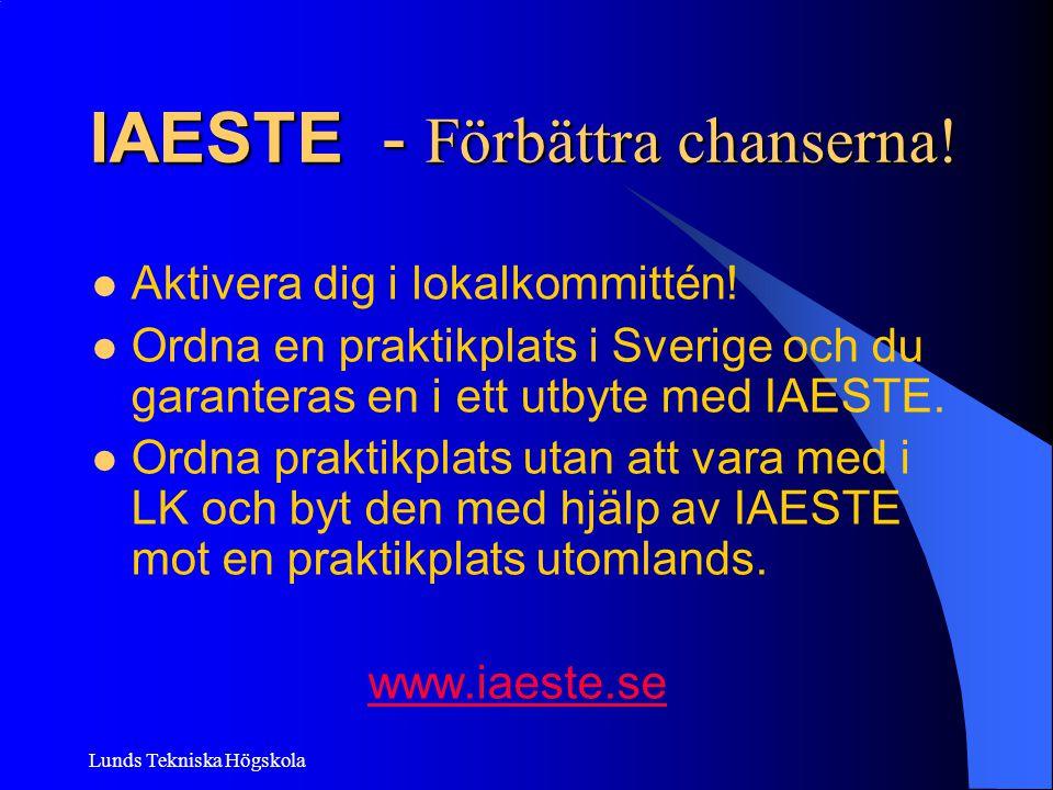 IAESTE - Förbättra chanserna!