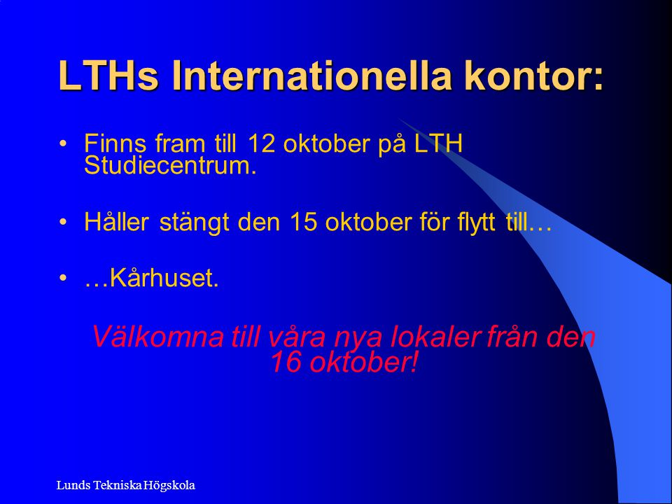 LTHs Internationella kontor: