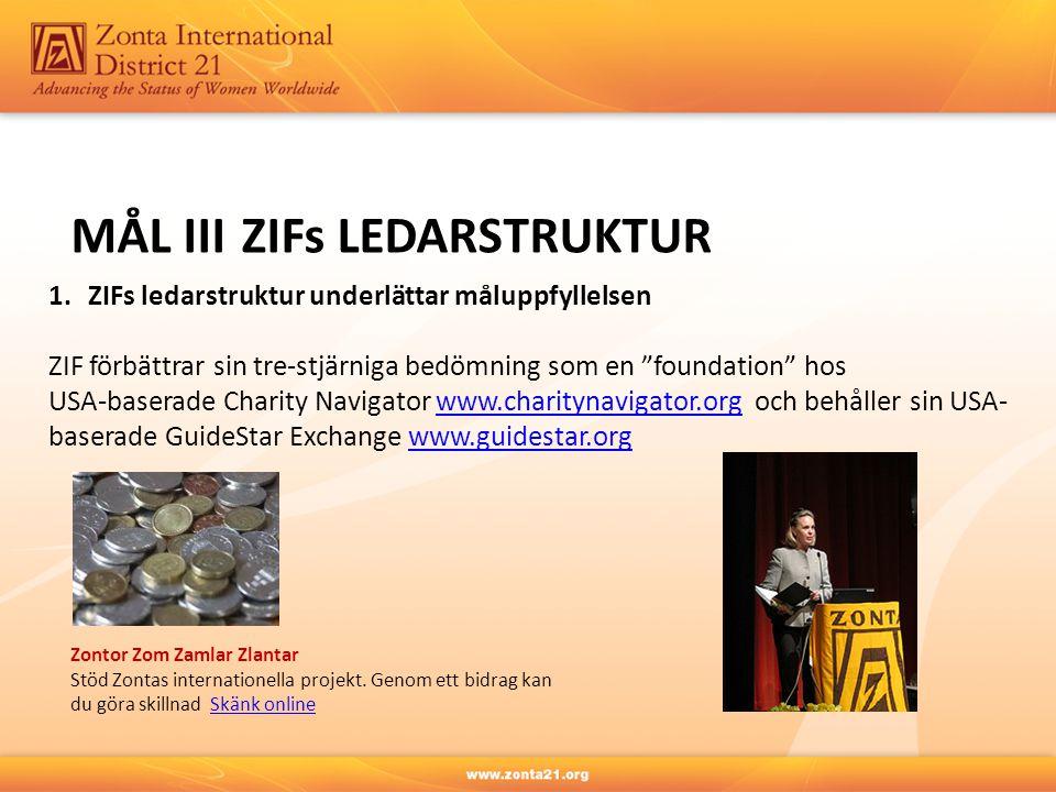 MÅL III ZIFs LEDARSTRUKTUR