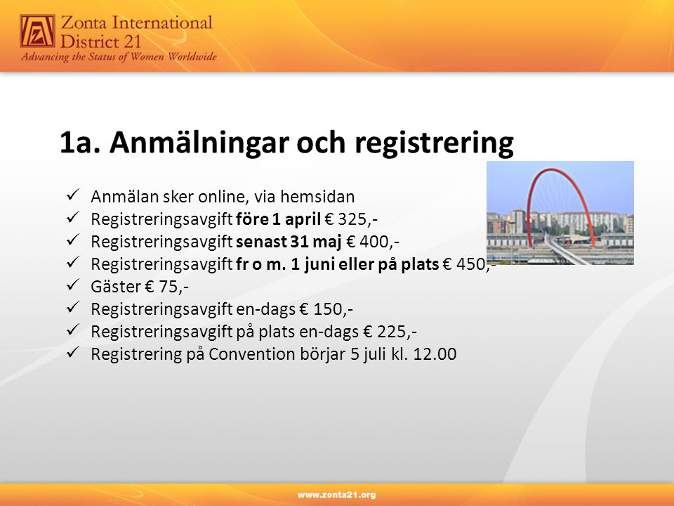 1a. Anmälningar och registrering
