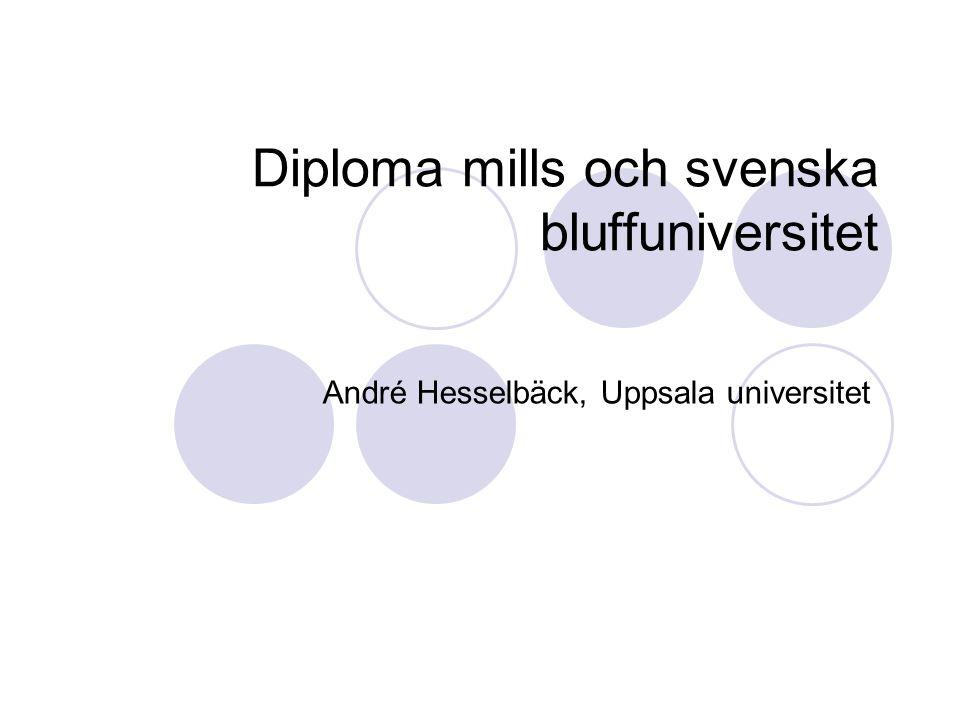 Diploma mills och svenska bluffuniversitet