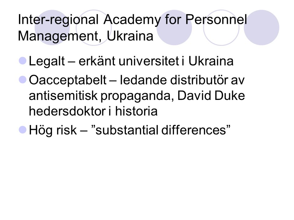 Inter-regional Academy for Personnel Management, Ukraina
