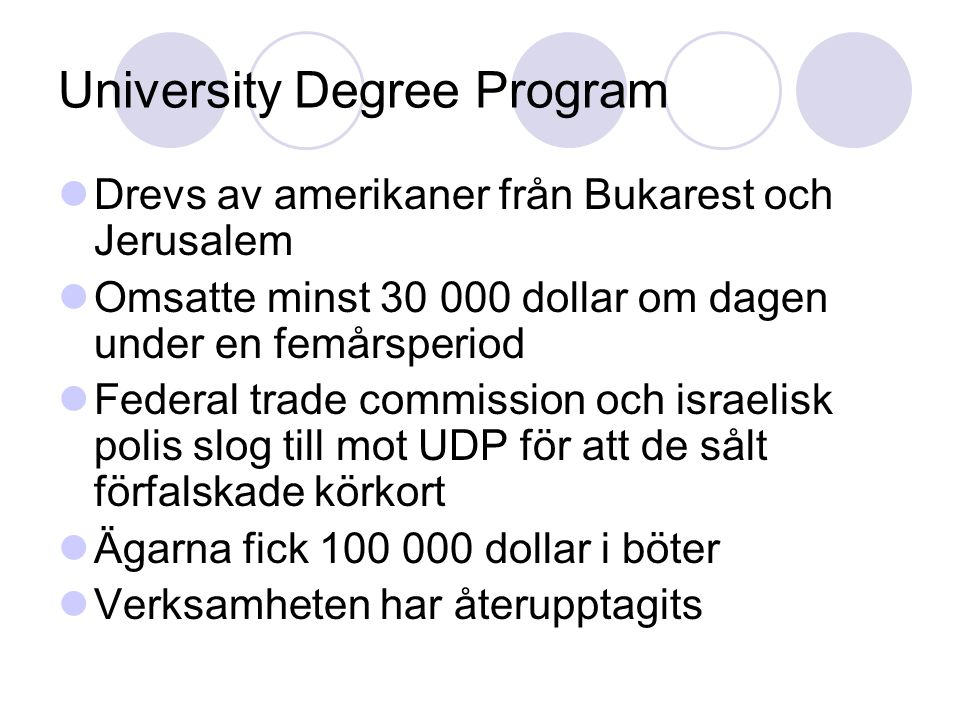 University Degree Program