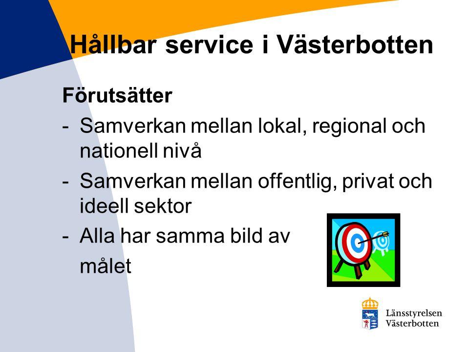 Hållbar service i Västerbotten