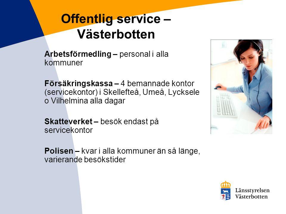 Offentlig service – Västerbotten